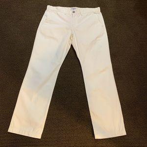 Men's Express Off White Slim Fit Pants. 34x30.